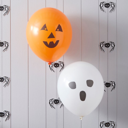 Spooky Halloween Fun Pumpkin and Ghost Balloons - pack of 10